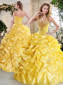 Clearance Ball Gown Quinceanera Dresses with Beading and Pick Ups for Spring
