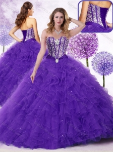 Cute  Sweetheart Quinceanera Dresses with Beading and Ruffles