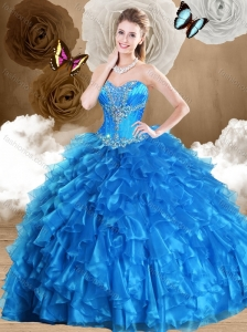Beautiful Ball Gown Sweetheart Quinceanera Dresses with Beading and Ruffles