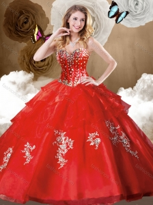 Clearance Ball Gown Quinceanera Dresses with Beading and Appliques