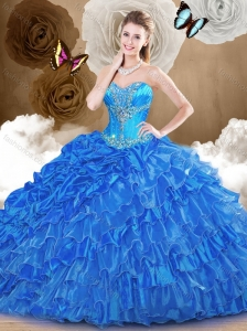 Clearance Ball Gown Quinceanera Dresses with  Beading and Ruffles