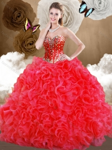 Clearance  Sweetheart Sweet 16 Quinceanera Dresses with Beading and Ruffles