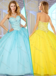 Discount  Sweetheart Quinceanera Dresses with Beading for 2016