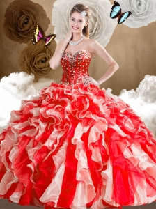 2016 Unique Sweetheart Multi Color Quinceanera Dresses with Ruffles