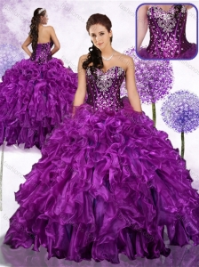 Unique Ball Gown Sweet 16 Quinceanera Dresses with Ruffles and Sequins
