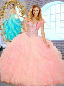 Unique Ball Gown Sweetheart Quinceanera Dresses with Beading and Ruffles