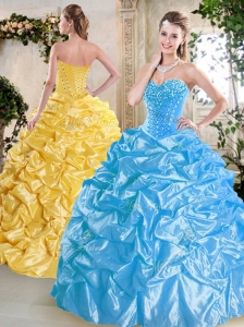 Unique Sweetheart Quinceanera Dresses with Beading and Pick Ups for Spring