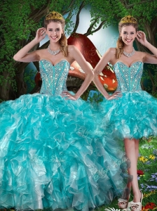 Hot Sale Sweetheart Detachable Quinceanera Dresses with Beading for Summer