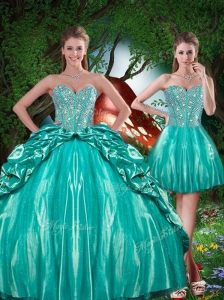 Summer Pretty Sweetheart Beading Detachable Quinceanera Dresses