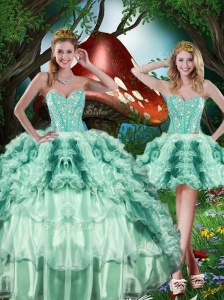 Beautiful Detachable Sweet 16 Quinceanera Dresses with Beading and Ruffles