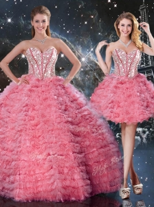 Beautiful Sweetheart Detachable Quinceanera Dresses for 2016