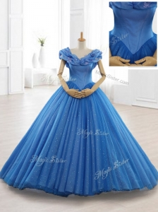 Exclusive Appliques Off the Shoulder Sweet 16 Dresses in Blue