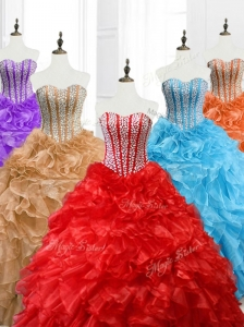 Hot Sale Ball Gown Sweetheart Quinceanera Dresses with Beading