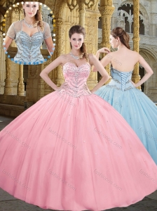 Latest Sweetheart Ball Gown Long Wedding Dresses with Beading