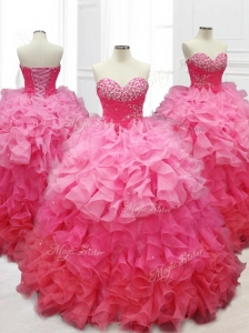 Popular Ball Gown Quinceanera Dresses with Beading and Ruffles