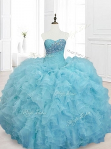 Cheap Ball Gown Sweet 15 Dresses with Beading and Ruffles