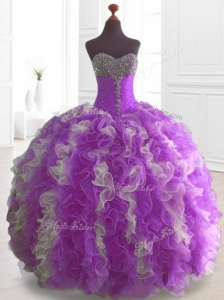 Elegant Multi Color Sweet 16 Dresses with Beading and Ruffles