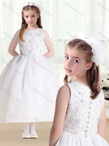 New Style Ball Gown Beading and Appliques Flower Girl Dresses