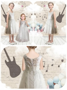 New Style Empire Scoop Sequins Flower Girl Dresses