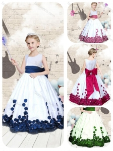 2016 Hot Sale Scoop Long Mini Quinceanera Dresses with Bowknot