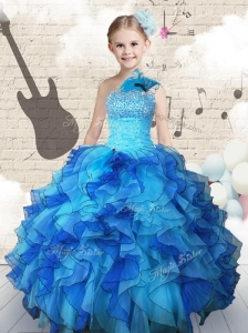 Elegant Beading and Ruffles Mini Quinceanera Dresses in Multi Color