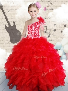 Popular Beading and Ruffles Mini Quinceanera Dresses in Red
