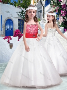 Perfect Spaghetti Straps Flower Girl Dresses with Appliques and Beading