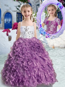 New Arrivals Spaghetti Straps Beading and Ruffles Little Girl Pageant Dresses