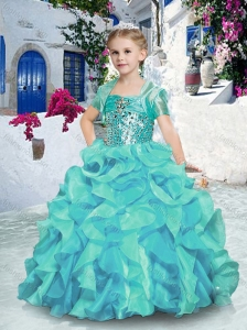 2016 Fashionable Ball Gown Little Girl Pageant Dresses with Beading and Ruffles
