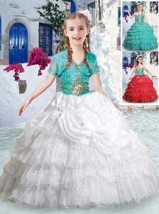 New Style Halter Top Little Girl Pageant Dresses with Ruffled Layers