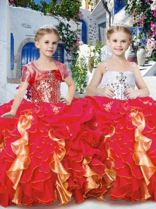 New Style Perfect Ball Gown Little Girl Pageant Dresses with Beading and Ruffles