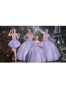 Exclusive Lavender Quinceanera Dresses and Simple Straps Mini Quinceanera Dresses and Beautiful Beading Ball Gown Dama Dresses