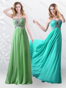 2016 Beautiful Empire Sweetheart Beading Prom Dresses