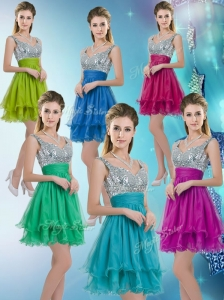 2016 Pretty Straps Short Prom Dresses with Sequins for Fall