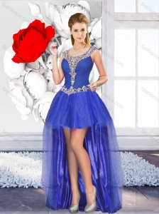 2016 Exclusive High Low Prom Dresses with Beading for Graduation