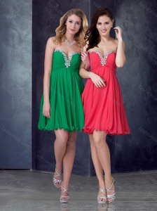 Exquisite Empire Beaded Top Short Prom Dress in Chiffon