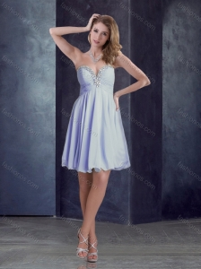 Latest Chiffon Beaded Top Short Prom Dress in Lavender