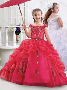 Lovely Off the Shoulder Mini Quinceanera Dress with Appliques and Bubbles