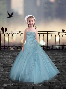 Spaghetti Straps Beaded Mini Quinceanera Dresses in Light Blue