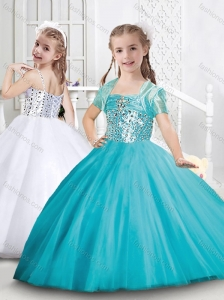 Exclusive Puffy Skirt Tulle Mini Quinceanera Dress with Beading