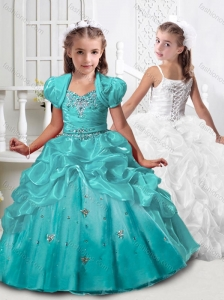Exclusive Spaghetti Straps Mini Quinceanera Dress with Beading and Pick Ups