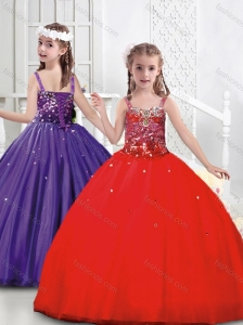 Low Price Puffy Skirt Tulle Mini Quinceanera Dress with Straps