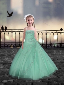 Spaghetti Straps Apple Green Mini Quinceanera Dresses with Beading