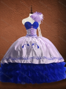 New Arrivals Ruffled Layers and Patterned Quinceanera Dress in Organza and Taffeta