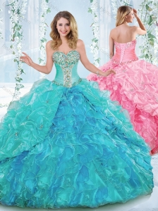 New Arrivals Rhinestoned and Ruffled Detachable Quinceanera Skirts in Organze