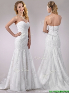 Beautiful Mermaid Wedding Dresses with Beading and Appliques