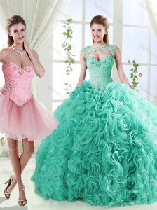 Elegant Beaded and Applique Detachable Quinceanera Skirt in Rolling Flower