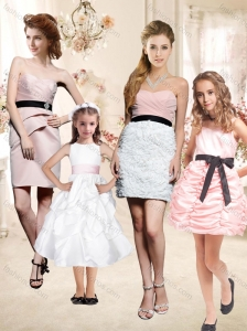 2016 The Super Hot Mini Length Bridesmaid Dress with Sashes and Ruffles