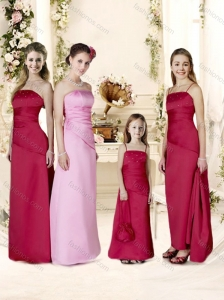 Popular Ruffled and Beaded Bridesmaid Dress with Floor-length