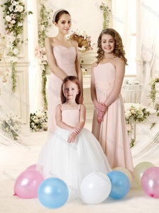 Simple Empire Chiffon Bridesmaid Dress in Champagne